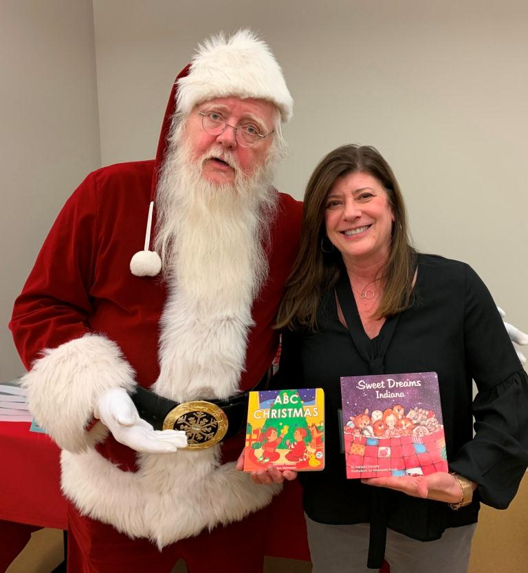 Santa and Adriane Know ABC Christmas and Sweet Dreams Indiana